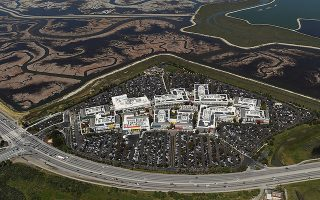 FILE PHOTO: The Facebook campus is shown in this aerial photo in Menlo Park, California  April 6, 2016. REUTERS/Noah Berger/File Photo