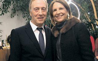 Ο διευθυντής του μουσείου Νίκος Σταμπολίδης με την πρόεδρο Σάντρα Μαρινοπούλου.