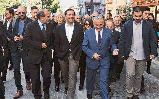 Ο πρωθυπουργός Αλ. Τσίπρας, κατά την επίσκεψή του στα Καλάβρυτα, μίλησε σε μέλη του αγροτικού και γαλακτοκομικού συνεταιρισμού και ανακοίνωσε δέσμη μέτρων για την ενίσχυση του αγροτικού και κτηνοτροφικού τομέα.