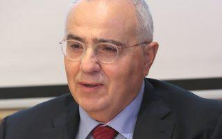 Ο πρόεδρος  της Ελληνικής Ένωσης Τραπεζών Νικόλαος Καραμούζης  μιλά κατά την διάρκεια συνέντευξης τύπου στα γραφεία του ΣΕΒ Δευτέρα 19 Νοεμβρίου 2018. ΑΠΕ-ΜΠΕ/ΑΠΕ-ΜΠΕ/Παντελής Σαίτας