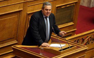 Ο πρόεδρος των ΑΝΕΛ και υπουργός Εθνικής Άμυνας Πάνος Καμμένος στο βήμα της ολομέλειας της Βουλής στη συζήτηση για τον Προϋπολογισμό του έτους 2019, Αθήνα, Τρίτη 18 Δεκεμβρίου 2018. Η συζήτηση ολοκληρώνεται αργά το βράδυ με την υπερψήφιση η καταψήφιση του. ΑΠΕ-ΜΠΕ/ΑΠΕ-ΜΠΕ/ΟΡΕΣΤΗΣ ΠΑΝΑΓΙΩΤΟΥ