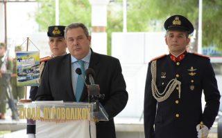 (Ξένη Δημοσίευση)   Ο υπουργός Εθνικής Άμυνας Πάνος Καμμένος, η υφυπουργός Εθνικής Άμυνας Μαρία Κόλλια - Τσαρουχά, ο Αρχηγός ΓΕΕΘΑ Ναύαρχος Ευάγγελος Αποστολάκης ΠΝ και ο Αρχηγός ΓΕΣ Αντιστράτηγος Αλκιβιάδης Στεφανής παρέστησαν στις εκδηλώσεις για την εορτή της Προστάτιδας του Πυροβολικού Αγίας Βαρβάρας, που πραγματοποιήθηκαν στη Σχολή Πυροβολικού στη Νέα Πέραμο Αττικής, την Τρίτη 4 Δεκεμβρίου 2018.  ΑΠΕ- ΜΠΕ/ ΓΡΑΦΕΙΟ ΤΥΠΟΥ ΥΠΕΘΑ /STR