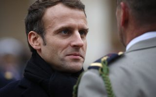 epa07191165 French President Emmanuel Macron attends a 'prise d'armes' military ceremony at the Invalides in Paris, France, 26 November 2018. The military ceremony is held to honor soldiers of the French Armed Forces for their services.  EPA/PHILIPPE WOJAZER / POOL  MAXPPP OUT
