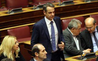 Ο πρόεδρος της ΝΔ Κυριάκος Μητσοτάκης στην ολομέλεια της Βουλής στη συζήτηση για τον Προυπολογισμό του έτους 2019, Αθήνα, Τρίτη 18 Δεκεμβρίου 2018. Η συζήτηση ολοκληρώνεται αργά το βράδυ με την υπερψήφιση η καταψήφιση του. ΑΠΕ-ΜΠΕ/ΑΠΕ-ΜΠΕ/ΟΡΕΣΤΗΣ ΠΑΝΑΓΙΩΤΟΥ