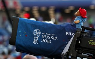 A Paddington Bear stuffed toy sits on a TV camera during the England vs Belgium match at Kaliningrad Stadium, Kaliningrad, Russia, June 28, 2018. As well as shooting all the matches, Reuters photographers are producing pictures showing their own quirky view from the sidelines of the World Cup.  REUTERS/Mariana Bazo