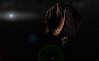 Φωτογραφία - καλλιτεχνική απεικόνιση του New Horizons και της Έσχατης Θούλης - Πηγή Johns Hopkins APL-SRI