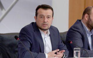 Ο υπουργός Ψηφιακής Πολιτικής, Τηλεπικοινωνιών και Ενημέρωσης Νίκος Παππάς μιλάει στη συνάντηση  με εκπροσώπους 128 νεοφυών εταιριών, στο υπουργείο, Παρασκευή 2 Νοεμβρίου 2018. ΑΠΕ-ΜΠΕ/ΑΠΕ-ΜΠΕ/Αλέξανδρος Μπελτές