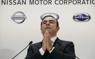 epa07220934 (FILE) - Carlos Ghosn, Chairman and Chief Executive Officer (CEO) of Nissan Motor Co., Ltd., speaks during a news conference in Tokyo, Japan, 20 October 2016 (reissued 10 December 2018) after attending a joint news conference with Osamu Masuko, Chairman, President and Chief Executive Officer of Mitsubishi MotorsCorp. Nissan has dismissed chairman Carlos Ghosn from his post over financial misconduct claims after conducting an internal investigation which showed Mr Ghosn had been allegedly under-reporting his income and used company funds for personal expenditures. Automobile maker Nissan has also been charged under the indictment.  EPA/KIMIMASA MAYAMA