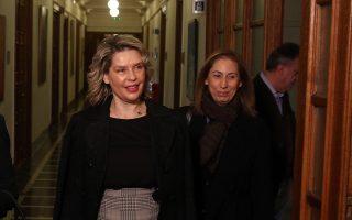 Η ΥπΠροΠΟ Όλγα Γεροβασίλη (Α), η  ΥφΠροΠο Κατερίνα Παπακώστα (Κ) και η υπουργός Διοικητικής Μεταρρύθμισης Μαριλίζα Ξενογιαννακοπούλου (Δ) φτάνουν στη σημερινή συνεδρίαση του Υπουργικού Συμβουλίου στη Βουλή, Τετάρτη 19 Δεκεμβρίου 2018. ΑΠΕ - ΜΠΕ/ΑΠΕ - ΜΠΕ/Αλέξανδρος Μπελτές