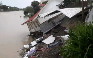 A destroyed house is seen after a tropical depression descended upon Daet, Camarines Norte, the Philippines, December 30, 2018, in this still image taken from a video obtained from social media. Robert Balidoy/via REUTERS THIS IMAGE HAS BEEN SUPPLIED BY A THIRD PARTY. MANDATORY CREDIT. NO RESALES. NO ARCHIVES.
