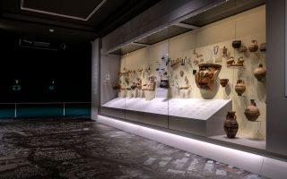 Γενική όψη της έκθεσης (Φωτο: Γιώργος Αναστασάκης © Μουσείο Κυκλαδικής Τέχνης)