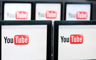 The YouTube Inc. company logo is displayed on computer monitors in London, U.K., on Friday, April 9, 2010. Google, based in Mountain View, California, acquired video Web site YouTube for $1.65 billion in 2006. Photographer: Chris Ratcliffe/Bloomberg