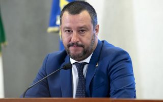 epa07000599 Italian Interior Minister, Matteo Salvini speaks with journalists during a press conference in Rome, Italy, 06 September 2018. Deputy Premier and Interior Minister Matteo Salvini said that he was not worried after a Genoa court okayed the seizure of funds from his League party over a fraud case.  EPA/MASSIMO PERCOSSI