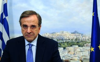 (Ξένη δημοσίευση)  Ο πρόεδρος της Νέας Δημοκρατίας  Αντώνης Σαμαράς κάνει δηλώσεις για το δημοψήφισμα της 5ης Ιουλίου, την Παρασκευή 3 Ιουλίου 2015, στα γραφεία της ΝΔ. ΑΠΕ- ΜΠΕ/ ΝΕΑ ΔΗΜΟΚΡΑΤΙΑ/ΓΟΥΛΙΕΛΜΟΣ ΑΝΤΩΝΙΟΥ