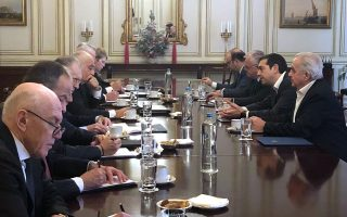 Ο πρωθυπουργός Αλέξης Τσίπρας συναντάται  με το  Προεδρείο Ελληνικής Ένωσης Τραπεζών , Παρασκερυή 28 Δεκεμβρίου 2018. ΑΠΕ-ΜΠΕ/ΑΠΕ-ΜΠΕ/Γραφείο Τύπου Πρωθυπουργού