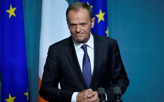 President of the European Council Donald Tusk speaks during a press conference at Government buildings in Dublin, Ireland, December 1, 2017. REUTERS/Clodagh Kilcoyne