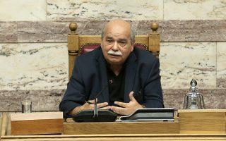 Ο πρόεδρος της Βουλής Νίκος Βούτσης μιλάει κατά τη  συνεδρίαση της Ολομέλειας της Βουλής των Εφήβων, Αθήνα, Παρασκευή 06 Ιουλίου 2018. ΑΠΕ-ΜΠΕ/ΑΠΕ-ΜΠΕ/ΣΥΜΕΛΑ ΠΑΝΤΖΑΡΤΖΗ