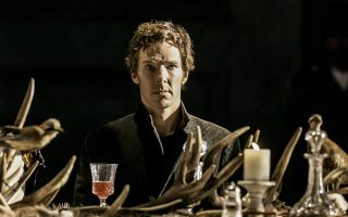 Actor Benedict Cumberbatch performs in Director Lyndsey Turner's production of Hamlet at the Barbican, in London, August 4, 2015, in this handout picture and released August 8, 2015. REUTERS/Johan Persson/Handout via Reuters     ATTENTION EDITORS - THIS PICTURE WAS PROVIDED BY A THIRD PARTY. REUTERS IS UNABLE TO INDEPENDENTLY VERIFY THE AUTHENTICITY, CONTENT, LOCATION OR DATE OF THIS IMAGE. FOR EDITORIAL USE ONLY. NOT FOR SALE FOR MARKETING OR ADVERTISING CAMPAIGNS. NO SALES. NO ARCHIVES. THIS PICTURE IS DISTRIBUTED EXACTLY AS RECEIVED BY REUTERS, AS A SERVICE TO CLIENTS  NO SALES. NO ARCHIVES.