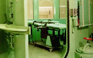 ** FILE ** ThisJanuary 1996 photo made available by the California Department of Corrections shows the entrance to the execution chamber and the lethal injection table at California's San Quentin State Prison in San Quentin, Calif.  Gov. Arnold Schwarzenegger on Monday, Dec. 12, 2005 refused to spare the life of Stanley Tookie Williams, the founder of the murderous Crips gang who awaited execution after midnight, Tuesday, Dec. 13, 2005, in a case that set off a debate over the possibility of redemption on death row. Schwarzenegger said he was unconvinced that Williams had had a change of heart, and he was unswayed by pleas from Hollywood stars and capital punishment foes who said the inmate had made amends by writing children's books about the dangers of gangs.  (AP Photo/California Department of Corrections)