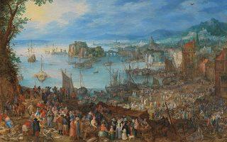 Γιαν Μπρίγκελ ο πρεσβύτερος, «Η μεγάλη ψαραγορά», Παλαιά Πινακοθήκη (Alte Pinakothek).