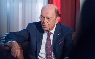 Μιλώντας στο αμερικανικό δίκτυο NBC, ο Αμερικανός υπουργός Εμπορίου Γουίλμπουρ Ρος τόνισε πως βλέπει «μια πολύ καλή ευκαιρία για μια λογική διευθέτηση που θα μπορεί να αποδεχθεί η Κίνα, θα μπορούν να αποδεχθούν οι ΗΠΑ και θα καλύπτει όλα τα σημαντικά θέματα».
