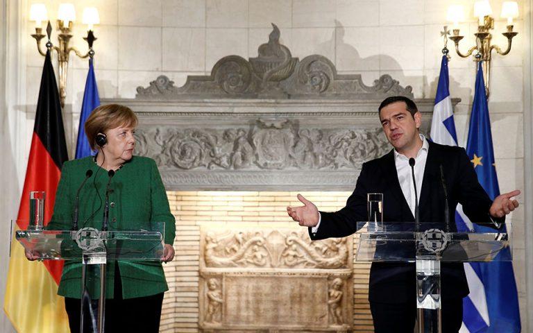 Στήριξη Μέρκελ στη συμφωνία των Πρεσπών