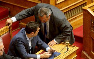 Οι κ. Αλ. Τσίπρας και Π. Καμμένος μετρούν και ξαναμετρούν βουλευτές όσο πλησιάζει η ώρα που η συμφωνία των Πρεσπών θα έρθει προς κύρωση στην ελληνική Βουλή.