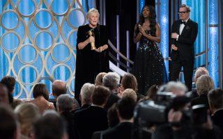 H ηθοποιός Γκλεν Κλόουζ, 71 ετών, κέρδισε τη Χρυσή Σφαίρα, επικρατώντας τεσσάρων νεότερων συναδέλφων της.