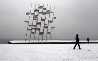 Πολλά ήταν τα προβλήματα που προκάλεσε στη Θεσσαλονίκη για μία ακόμη ημέρα η διαρκής, πυκνή χιονόπτωση, που αυτή τη φορά είχε το όνομα «Υπατία».