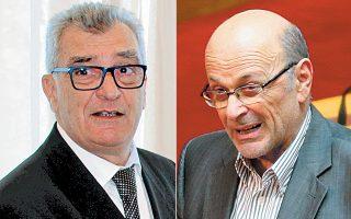 Αριστερά, ο νυν δήμαρχος Λέσβου Σπύρος Γαληνός θα είναι υποψήφιος ξανά στις αυτοδιοικητικές εκλογές. Δεξιά, ο Σταύρος Τάσσος θα είναι επικεφαλής του συνδυασμού του ΚΚΕ στις περιφερειακές εκλογές.