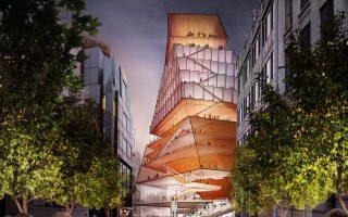 Το διάφανο κτίριο έχει σχεδιαστεί από το αρχιτεκτονικό γραφείο Diller Scofidio + Renfro της Νέας Υόρκης.