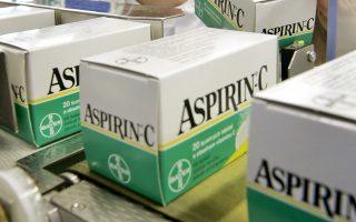 Η τακτική λήψη ασπιρίνης μειώνει κατά 15% την πιθανότητα εμφράγματος και κατά 19% την πιθανότητα εγκεφαλικού, αλλά αυξάνει κατά 43% τον κίνδυνο αιμορραγικού επεισοδίου.