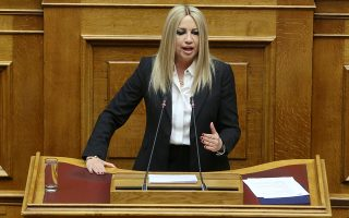 Η πρόεδρος του ΚΙΝΑΛ Φώφη Γεννηματά κατηγόρησε τον πρωθυπουργό ότι δημιουργεί «μακεδονικό έθνος».