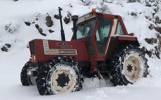 Εκχιονιστικά μηχανήματα ανοίγουν το δρόμο από τα χιόνια στο διάσελο της Σκοτεινής στην ορεινή Αργολίδα, Πέμπτη 3 Ιανουαρίου 2019.   ΑΠΕ-ΜΠΕ /ΑΠΕ-ΜΠΕ/ΜΠΟΥΓΙΩΤΗΣ ΕΥΑΓΓΕΛΟΣ