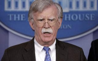 National security adviser John Bolton speaks during a press briefing at the White House, Monday, Jan. 28, 2019, in Washington. (AP Photo/ Evan Vucci)