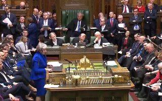 Στιγμιότυπο από τη σημερινή συνεδρίαση του βρετανικού Κοινοβουλίου