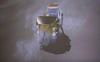 Το κινεζικό διαστημόπλοιο «Chang'e-4». Στόχος είναι να εξερευνήσει τον κρατήρα Φον Καρμάν, στον Νότιο Πόλο - Κοιλάδα Αϊτκεν.