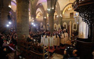 Χριστουγεννιάτικη χορωδία σε εκκλησία της Δαμασκού, τον περασμένο Δεκέμβριο.