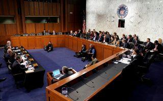 Οι επικεφαλής των υπηρεσιών FBI, CIA, DIA και NSA στην κατάθεση ενώπιον του Κογκρέσου, που προξένησε την οργή του προέδρου Τραμπ.