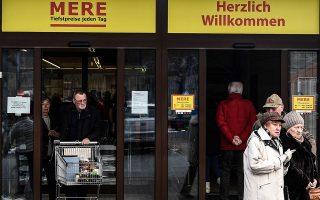 Το μότο του πρώτου καταστήματος «Mere», επωνυμία υπό την οποία θα λειτουργεί η Torgservis στη Γερμανία, είναι «κάθε μέρα οι χαμηλότερες τιμές».