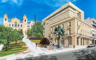 Φωτορεαλιστική απεικόνιση του Μουσείου Σύγχρονης Τέχνης του Ιδρύματος Βασίλη και Ελίζας Γουλανδρή που έχει ολοκληρωθεί δίπλα στην πλατεία του Αγίου Σπυρίδωνος, στο Παγκράτι.