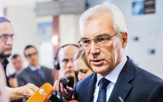 «Δεν παρεμβαίνουμε με κανένα τρόπο στις εσωτερικές υποθέσεις της Ελλάδας», είπε ο αναπληρωτής υπουργός Εξωτερικών της Ρωσικής Ομοσπονδίας Αλεξάντρ Γκρούσκο.