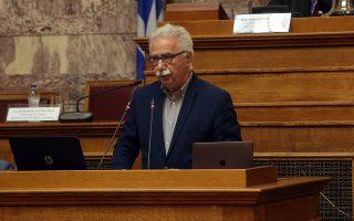 Ο υπουργός Παιδείας, Έρευνας και Θρησκευμάτων  Κωνσταντίνος Γαβρόγλου  κατά την ομιλία του στο συνέδριο  με θέμα «Κρίση – Μεταρρυθμίσεις – Ανάπτυξη». που διοργανώνει το Γραφείο Προϋπολογισμού του Κράτους στη Βουλή, στην αίθουσα της Γερουσίας, Τρίτη 28 Μαρτίου 2017. ΑΠΕ-ΜΠΕ/ΑΠΕ-ΜΠΕ/Αλέξανδρος Μπελτές