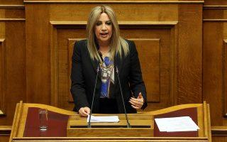 Η επικεφαλής του ΚΙΝΑΛ Φώφη Γεννηματά στο βήμα της ολομέλειας της Βουλής στη συζήτηση για τον Προυπολογισμό του έτους 2019, Αθήνα, Τρίτη 18 Δεκεμβρίου 2018. Η συζήτηση ολοκληρώνεται αργά το βράδυ με την υπερψήφιση η καταψήφιση του. ΑΠΕ-ΜΠΕ/ΑΠΕ-ΜΠΕ/ΟΡΕΣΤΗΣ ΠΑΝΑΓΙΩΤΟΥ