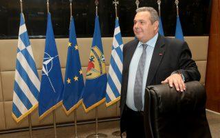 Ο υπουργός Εθνικής Άμυνας Πάνος Καμμένος προσέρχεται στην απολογιστική συνέντευξη για το έργο του στο Υπουργείο Εθνικής Άμυνας, Δευτέρα 14 Ιανουαρίου  2019.  ΑΠΕ-ΜΠΕ/ΑΠΕ-ΜΠΕ/Παντελής Σαίτας