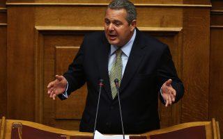 Ο πρόεδρος των ΑΝΕΛ Πάνος Καμμένος μιλάει από το βήμα της Βουλής στη συζήτηση και ψήφιση του σχεδίου νόμου του Υπουργείου Εσωτερικών και Διοικητικής Ανασυγκρότησης «Αναλογική εκπροσώπηση των πολιτικών κομμάτων, διεύρυνση του δικαιώματος εκλέγειν και άλλες διατάξεις περί εκλογής Βουλευτών», Πέμπτη 21 Ιουλίου 2016.  ΑΠΕ-ΜΠΕ/ΑΠΕ-ΜΠΕ/ΑΛΕΞΑΝΔΡΟΣ ΒΛΑΧΟΣ