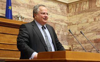 O ΥΠΕΞ Νίκος Κοτζιάς  ετοιμάζεται να ενημερώσει τα μέλη της Επιτροπής Εξωτερικών και Άμυνας της Βουλής για θέματα αρμοδιότητάς του, Παρασκευή 18 Νοεμβρίου 2016. ΑΠΕ - ΜΠΕ/ΑΠΕ - ΜΠΕ/Αλέξανδρος Μπελτές