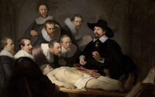 «Μάθημα ανατομίας του Δρ. Τουλπ», (1632).