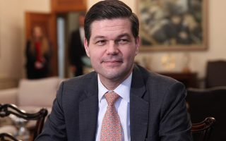 Wess Mitchell US Assistant Secretary of State for European and Eurasian Affairs is seen during a meeting with Cypriot President Nicos Anastasiades (not pictured) at the Presidential Palace in Nicosia, Cyprus March 16, 2018. REUTERS/Yiannis Kourtoglou