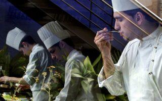 Chefs work in the restaurant